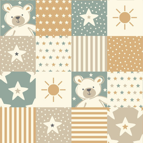Teddy bear - stars & stripes