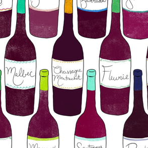 wine repeat - on white - large scale