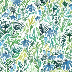 Blue meadow- Light - Medium