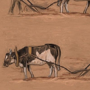 Plowing by Ox