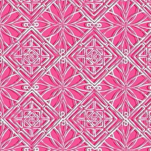 Hawaiian Quilt Briight Pink