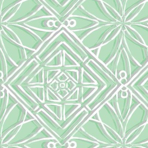 Hawaiian Quilt Green Large Scale