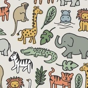 Safari Animals - Multi-color - large scale
