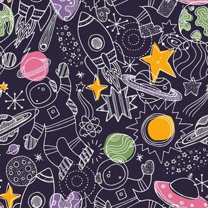 Scandi doodle space