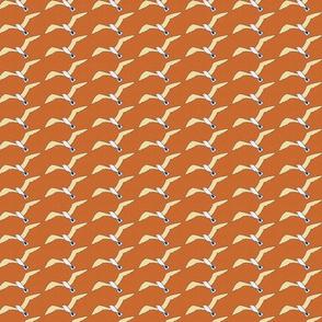 white seagulls on orange small