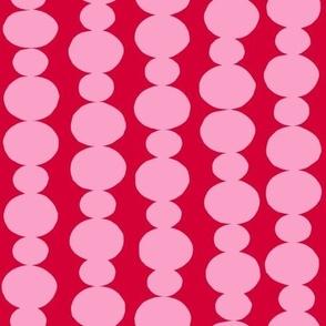 beadwork string pink red