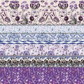 patchwork lavender garden borders