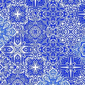 Scatter Tile//Blue//Large Scale