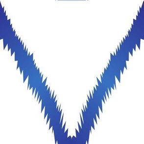 Blue Ikat Chevron