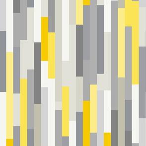 Retro Linear Yellow, Grey & Pink geometry - M