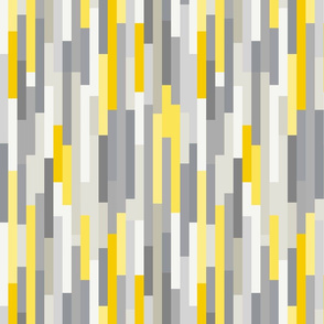 Linear geometric graphic pattern - gray & yellow pantone 2021 and pink accents - graphic, abstract shapes - Mid-century modern - S
