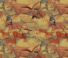 Ox Cave Paintings - Medium Scale