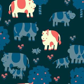 Pink Oxen