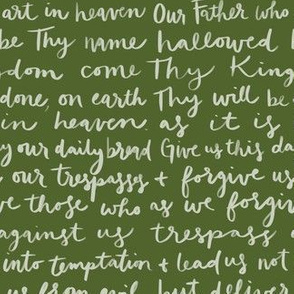 Our Father Prayer in Green