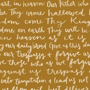 Our Father Prayer in Gold