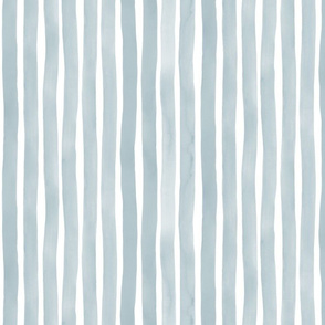 Vertical Watercolor Stripes M+M Slate by Friztin