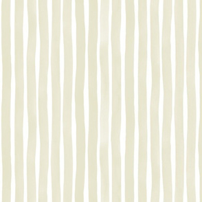 Vertical Watercolor Stripes M+M Quinoa by Friztin