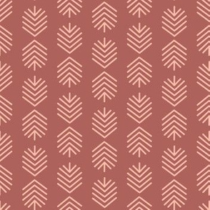 Geometric Feathers - Coral