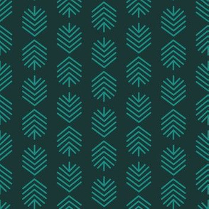 Geometric Feathers - Teal