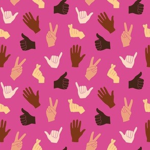 Hand Gestures Pink