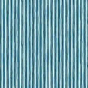 Vertical Watercolor Mini Stripes M+M Ultramarine by Friztin
