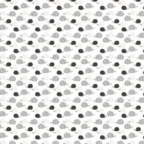 Scandinavian sweet hedgehog illustration for kids gender neutral black and white tiny small
