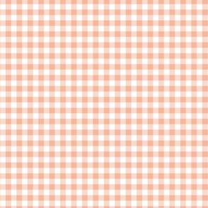 Boho plaid minimalist check pattern blush peach white easter summer SMALL