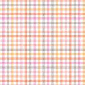 Boho plaid minimalist check pattern pink peach seventies retro palette white easter summer SMALL