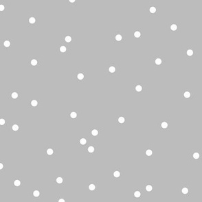 Confetti Snow flakes abstract polka dot minimalist design Ultimate gray color of the year