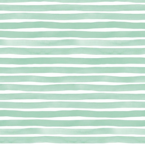 Watercolor Stripes M+M Agave by Friztin