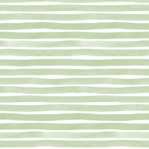 Watercolor Stripes M+M Catmint by Friztin