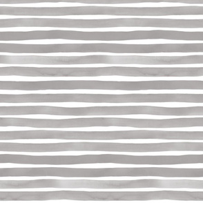 Watercolor Stripes M+M Concrete by Friztin