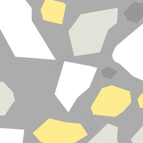 Modern Terrazzo Yellow and Grey - L