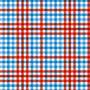 Boho plaid minimalist check pattern usa traditional american flag colors blue and red white easter summer SMALL