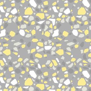 Modern Terrazzo Yellow and Grey - S