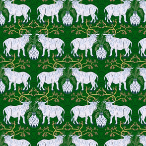 Chinoiserie Oxen in Emerald (medium)