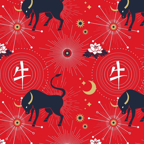 Chinese Year of the Ox 2021 Art Print