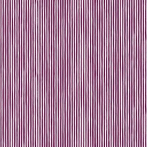 Vertical Watercolor Mini Stripes M+M Plum by Friztin