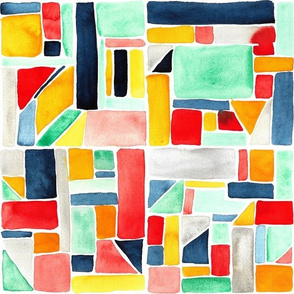 Watercolor patchwork