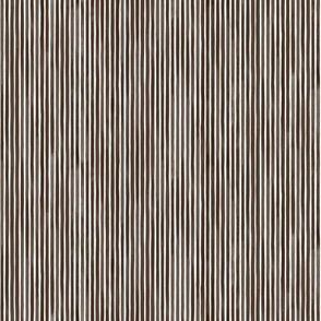 Vertical Watercolor Mini Stripes M+M Chocolate by Friztin
