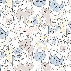 one-line cats - small