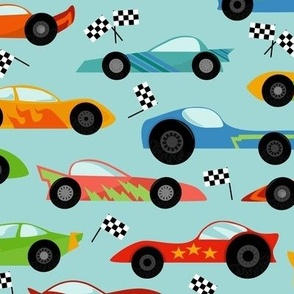Rainbow Watercolor School of Fish Rotated
