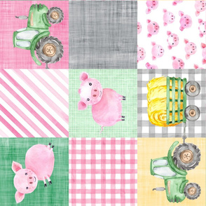 Pig Farmer Green Pink Tractor Cheater Rotated