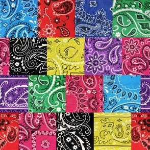 Patchwork of Bandana Paisley