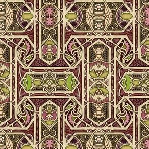 Victorian Chocolate Hexagon Matrix