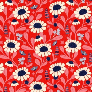 Camomile Fields Red White and Blue