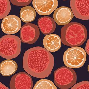 _Orange_And_Garnet_On_Black