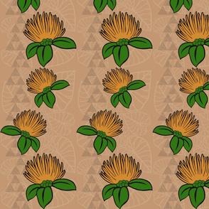 Ohi'a Lehua Mauna Kalo on warm beige-ch