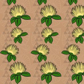 Ohi'a Lehua Mauna Kalo on warm beige-ch-ch