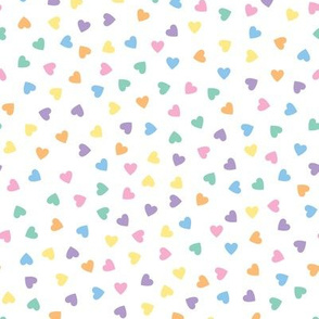 Kawaii Pastel Rainbow Candy Hearts (Solid)